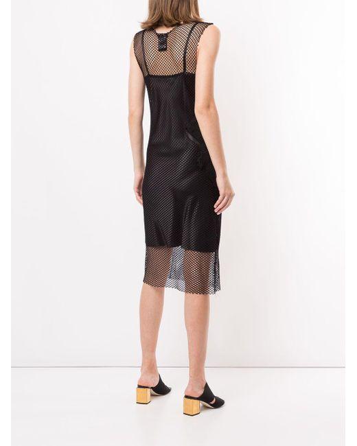 Полупрозрачное Сетчатое Платье Ann Demeulemeester, цвет: Black