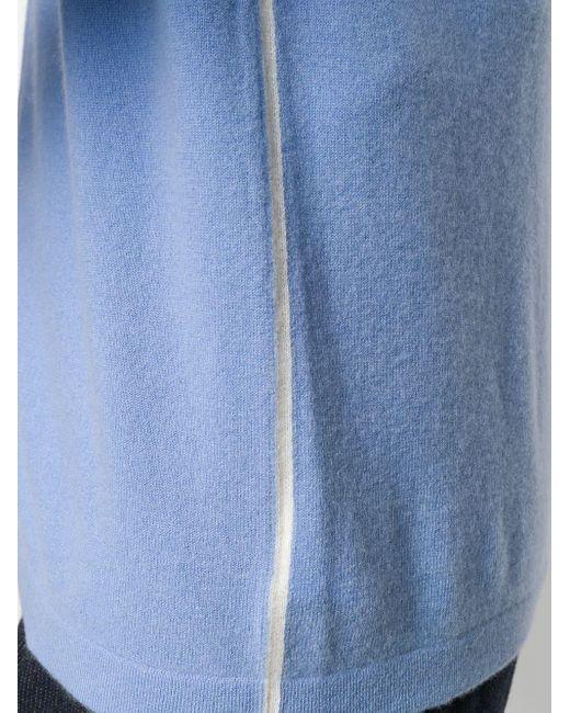 メンズ N.Peal Cashmere ジップアップ カーディガン Blue