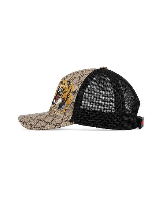 Gorra de béisbol GG Supreme con estampado de tigre Gucci de hombre de color Multicolor