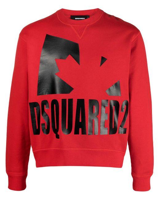 DSquared² Sweatshirt mit Logo-Print in Red für Herren