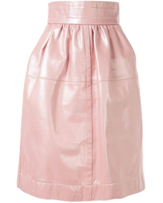 Marc Jacobs レザースカート Pink