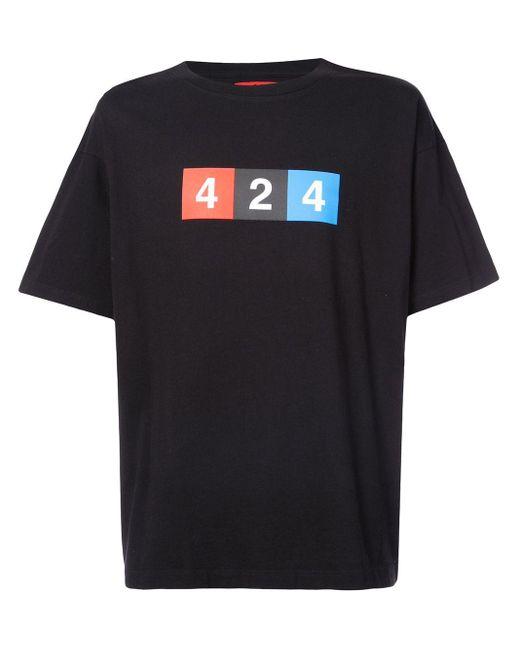 メンズ 424 プリント Tシャツ Black