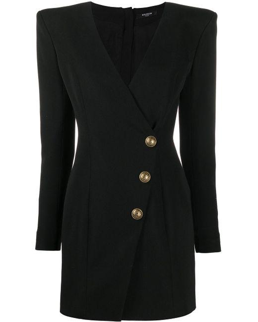 Balmain ボタンディテール ドレス Black