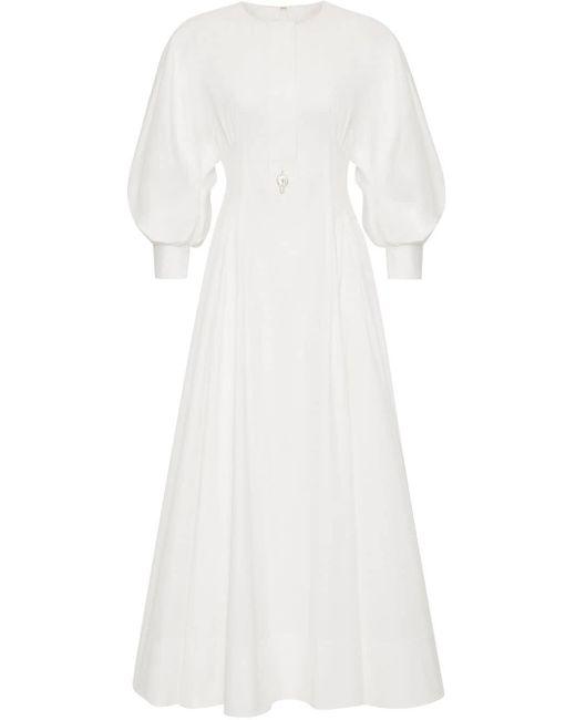 Oscar de la Renta バルーンスリーブ ドレス White