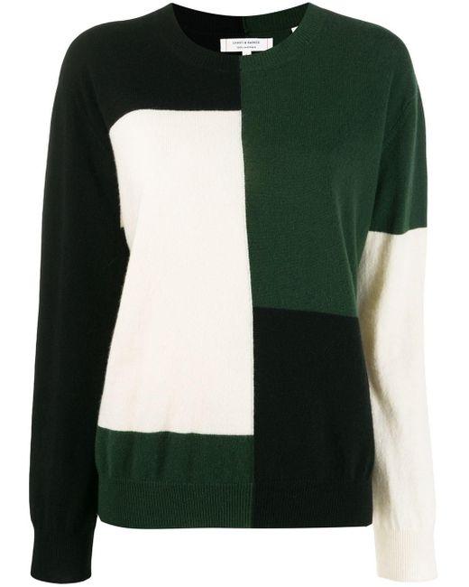 Chinti & Parker カラーブロック セーター Green