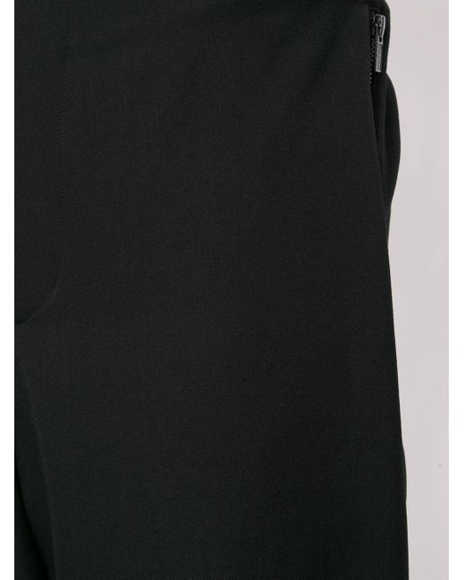 メンズ Yohji Yamamoto オーバーサイズ テーパードパンツ Black