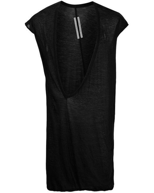 T-shirt à col v profond Rick Owens pour homme en coloris Black