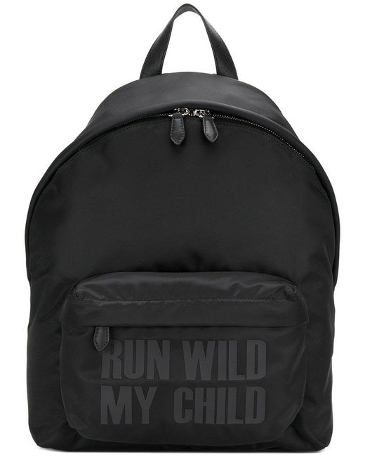 Givenchy - Black Slogan Print Backpack for Men - Lyst