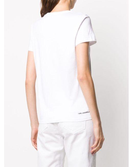 Футболка Ikonik Karl Со Стразами Karl Lagerfeld, цвет: White