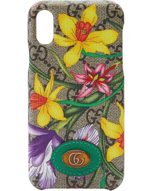 Gucci オフィディア GG フローラ Iphone X/xs ケース Multicolor