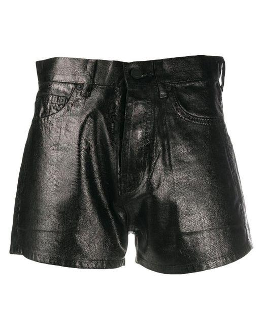 Short à coupe ajustée Saint Laurent en coloris Black