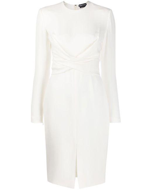 Tom Ford クロスディテール ドレス White
