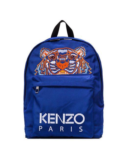 KENZO Rucksack mit Tiger in Blue für Herren