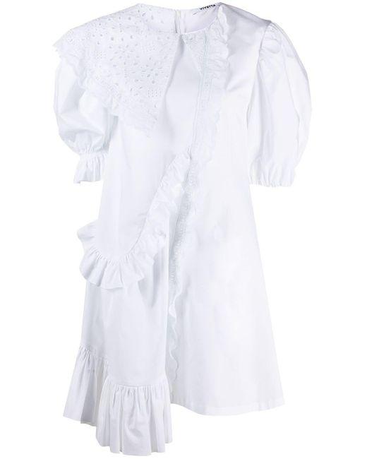 Vestito asimmetrico di Vivetta in White