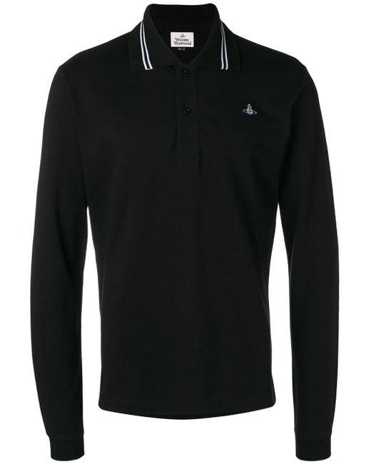 メンズ Vivienne Westwood ロングスリーブ ポロシャツ Black
