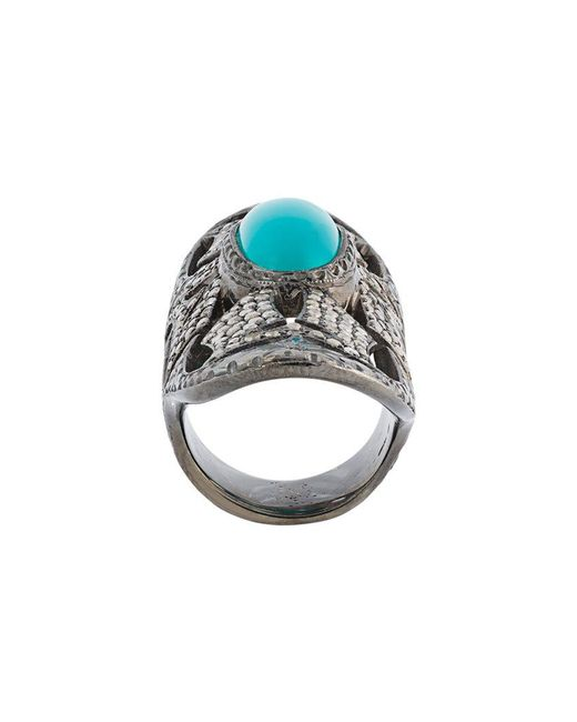 Loree Rodkin - Metallic Turquoise & Diamond Bondage Ring - Lyst
