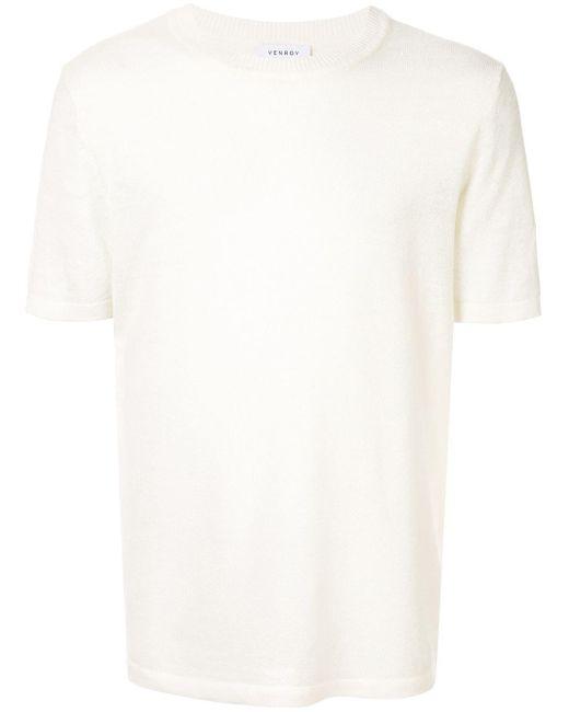 メンズ Venroy ニット Tシャツ White