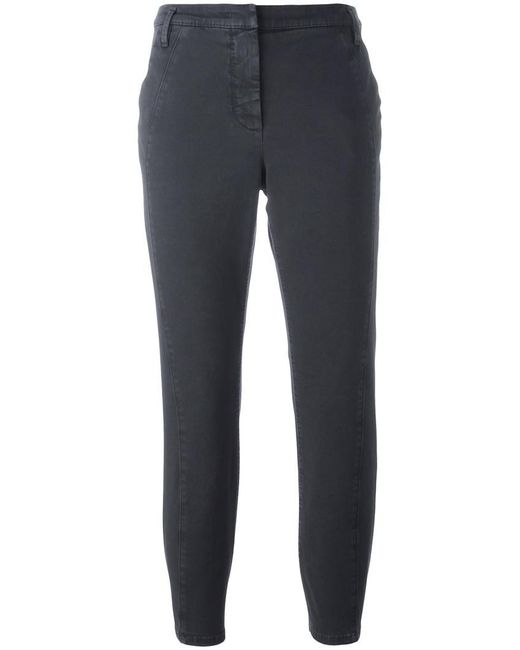 Dorothee Schumacher - Gray Cropped Trousers - Lyst