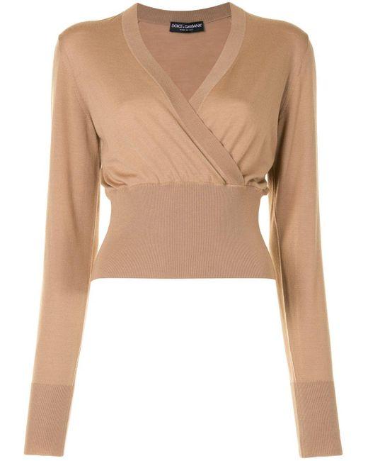 Джемпер С Запахом Dolce & Gabbana, цвет: Brown