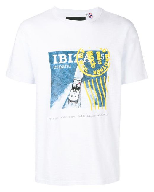 Blood Brother - White 'Ibiza' T-Shirt for Men - Lyst