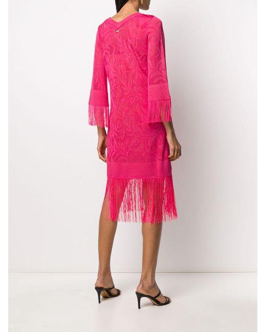 Twin Set フリンジ カフタン ドレス Pink