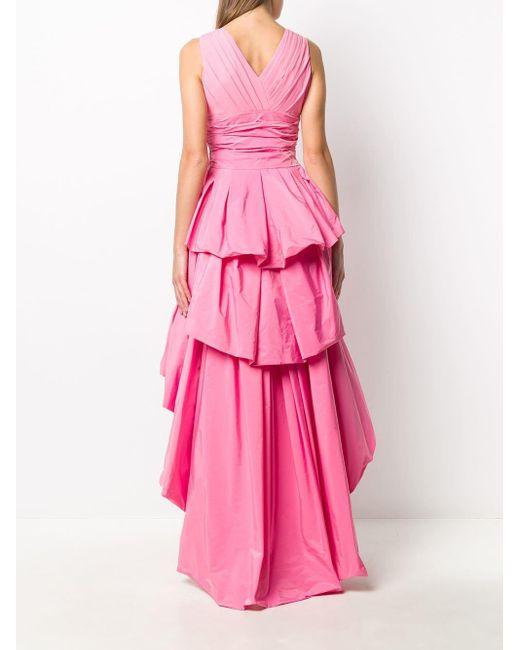 Paule Ka ラッフル ドレス Pink