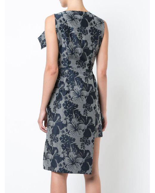 8a005600c Vestido con motivo tropical Stella McCartney de color Gris - Lyst
