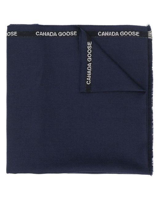 Canada Goose ロゴディテール スカーフ Blue