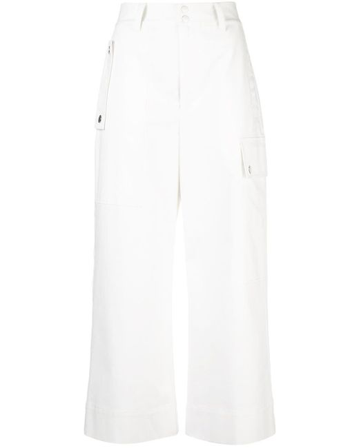 PROENZA SCHOULER WHITE LABEL クロップド カーゴパンツ White