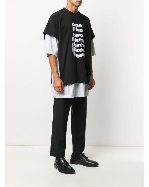 メンズ Balenciaga スローガン Tシャツ Black