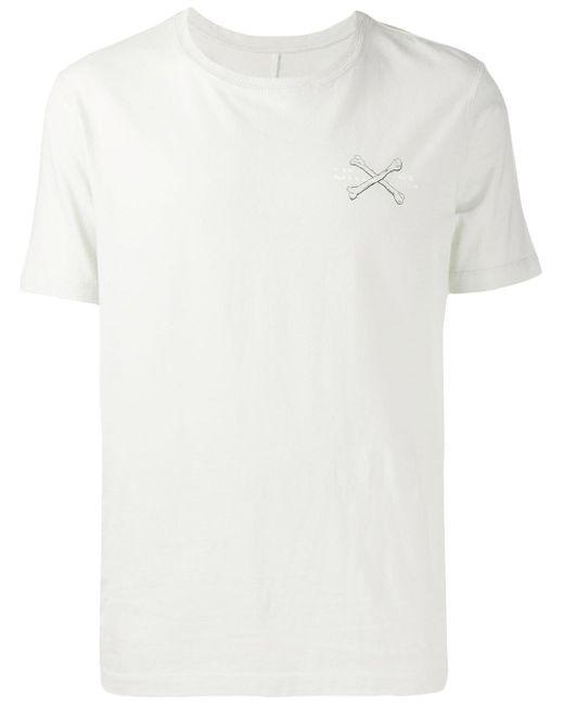 メンズ Unravel Project クルーネック Tシャツ White