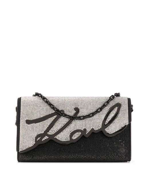 Karl Lagerfeld Signature Baguette バッグ Black