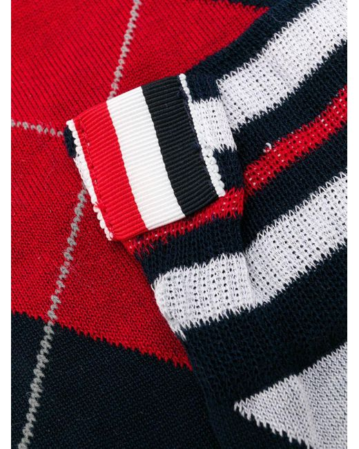 Thom Browne アーガイル 靴下 Red