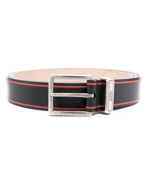 Cintura con fibbia di Alexander McQueen in Black da Uomo