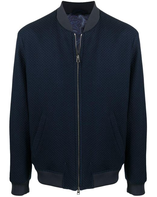 メンズ Etro ジャージー ボンバージャケット Blue