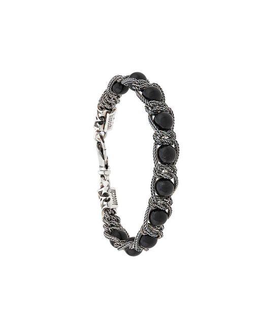 Beaded Chain Bracelet Emanuele Bicocchi, цвет: Black