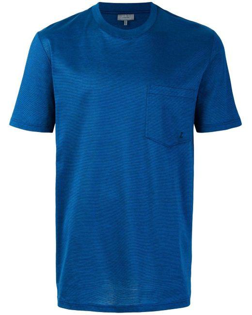 メンズ Lanvin チェストポケット Tシャツ Blue