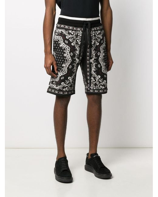 メンズ Dolce & Gabbana プリント バミューダショーツ Black