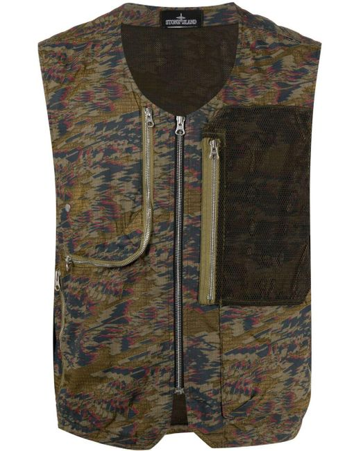 Stone Island Shadow Project Green Utility-style Gilet for men