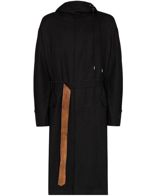 Bed J.w. Ford Black Hooded Open-side Raincoat for men