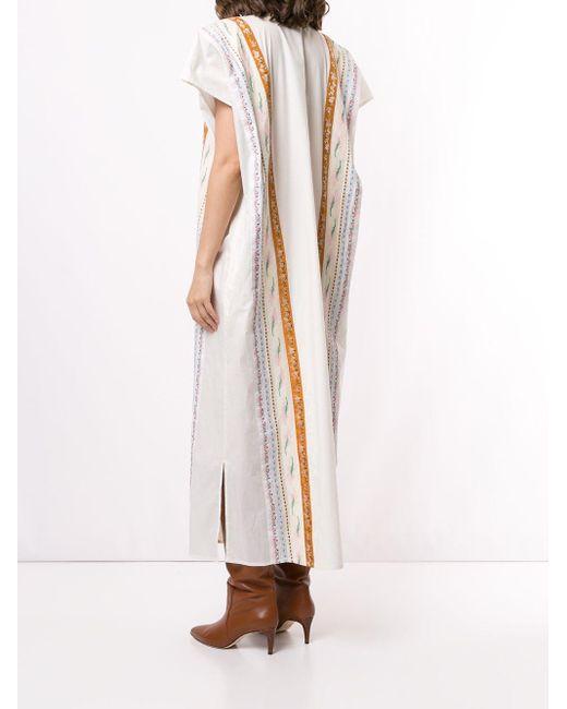 Tory Burch リボン カフタンドレス Multicolor