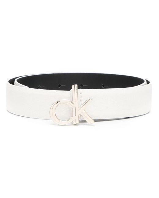 Ремень С Пряжкой-логотипом Calvin Klein, цвет: White