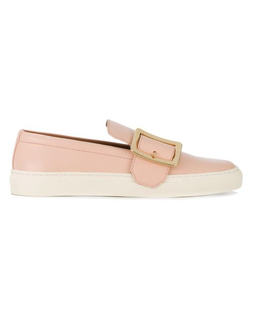 Bally Pink Buckled Slip-on Loafers