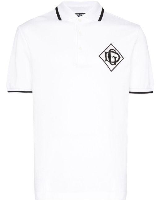 メンズ Dolce & Gabbana ロゴ ポロシャツ White