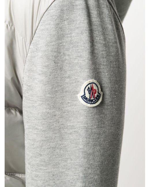 Moncler コントラストスリーブ ダウンジャケット Gray