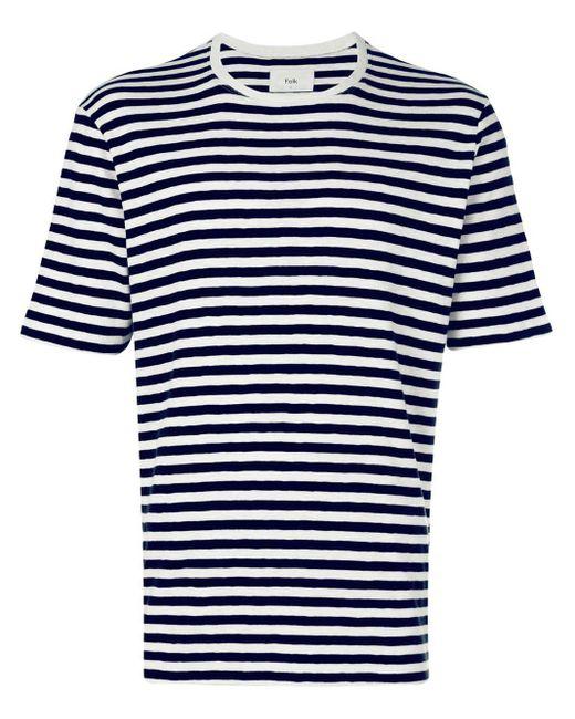メンズ Folk ボーダー Tシャツ Multicolor