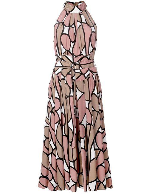 Diane von Furstenberg ホルターネック ドレス Multicolor