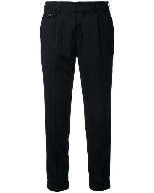 Loveless - Black Cropped Tailored Trousers - Lyst