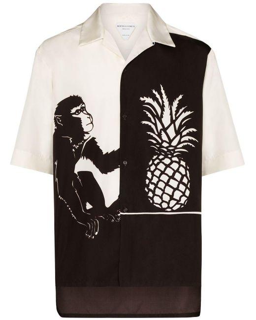 メンズ Bottega Veneta バイカラーシャツ Black