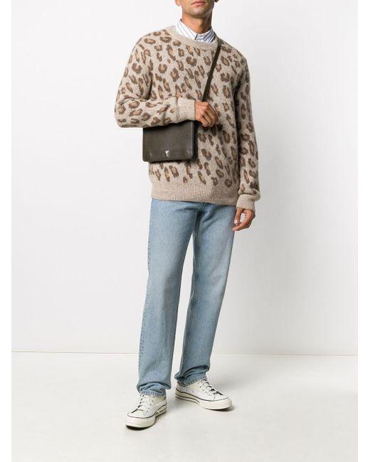 メンズ A.P.C. レオパード セーター Multicolor